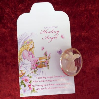 Healing angel worry stone