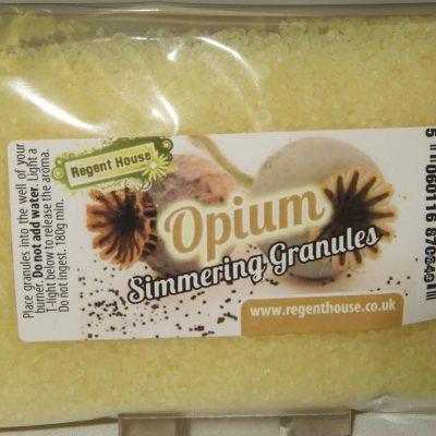 Opium granules