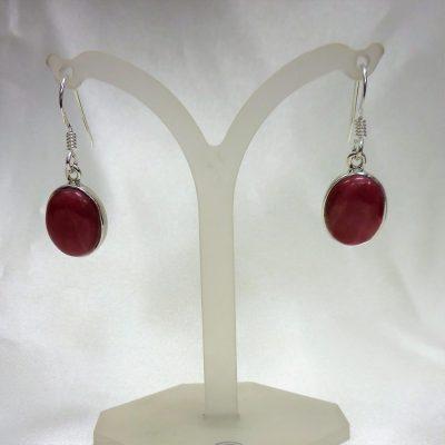 Rhodonite drop earrings