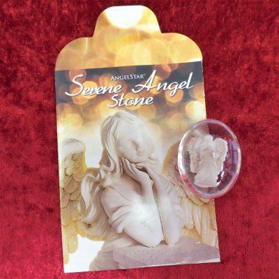 Serene angel worry stone