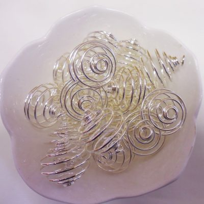 Silver plated spirals. Nickel free