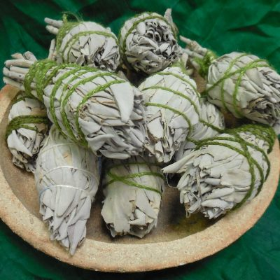 Small white sage bundles