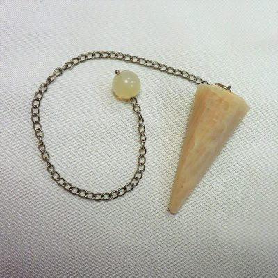 White calcite pendulum