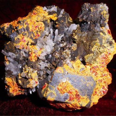 orpiment-pyrite-sphalerite-quart