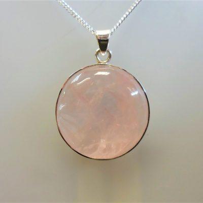 Rose quartz jewellery